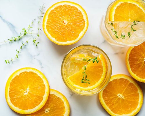 agua citricos naranja