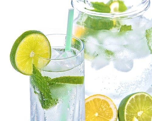 menta limon agua