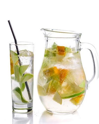 naranja agua infusion