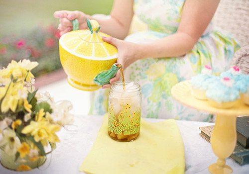 te verde y limonada